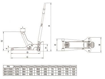 bahco 1 5 t 1500kg wagenheber f r tiefe tiefergelegte. Black Bedroom Furniture Sets. Home Design Ideas