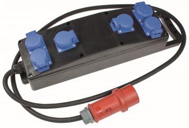 2,5 m 5x2,5 mm² HEDI AK16HK Adapterkabel Drehstrom-Schuko 16 A für Außen *NEU*