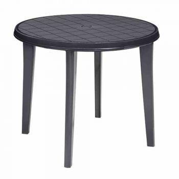 jardin 221062 tisch lisa 90 cm rund graphit neu. Black Bedroom Furniture Sets. Home Design Ideas
