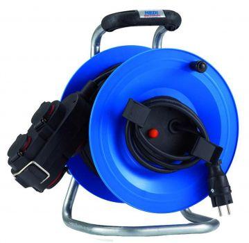 hedi g2y25ntk4 kunststoff kabeltrommel 25m 4 fach kupplung f r au en blau neu. Black Bedroom Furniture Sets. Home Design Ideas