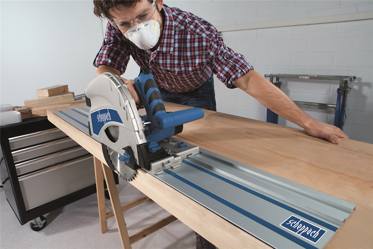 scheppach pl75 handkreiss ge tauchs ge kreiss ge mit f hrungsschiene neu. Black Bedroom Furniture Sets. Home Design Ideas