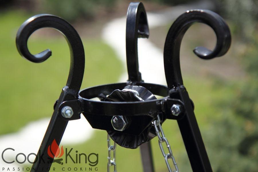 COOK KING BBQ Schwenkgrill mit Rohstahlrost 50cm Grillrost am Dreibein **NEU**