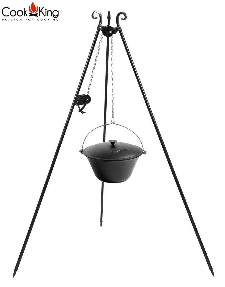 COOK KING Gusseisenkessel 180 cm Dreibein + Kurbel 11 L ***NEU ...