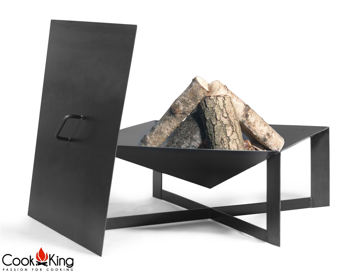 cook king feuerschale cuba abdeckung 70 x 70 cm neu. Black Bedroom Furniture Sets. Home Design Ideas