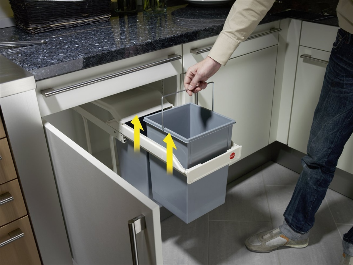 "HAILO Einbau-Mülltrennungssystem ""Multi-Box 2x15"" 3659-001 ***NEU***"
