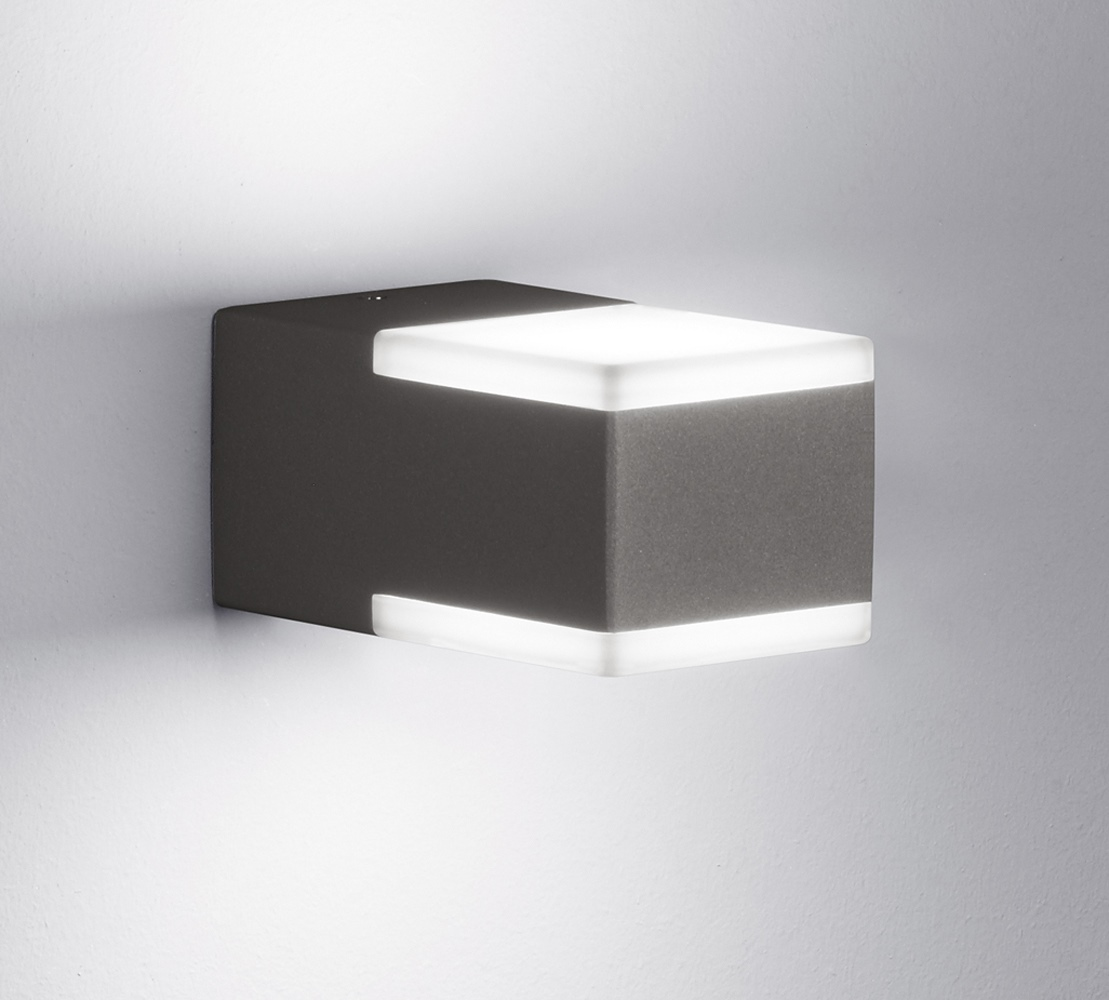 Extrem TRIO LED Außenleuchte Wandleuchte Lampe anthrazit kompakt 2 x 3 W UA79