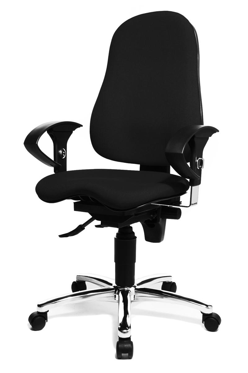 topstar sitness 10 drehstuhl b rostuhl b rosessel schwarz doppelrollen neu. Black Bedroom Furniture Sets. Home Design Ideas
