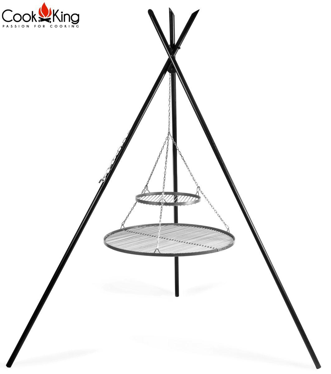 COOK KING 2 Edelstahlroste auf dem 200 cm Dreibein 70 cm ***NEU***