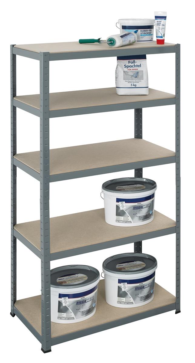 hbh24online pro bau tec schwerlastregal 265 kg steckregal regal lagerregal neu. Black Bedroom Furniture Sets. Home Design Ideas