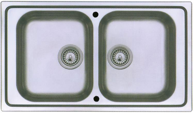 gam gastro edelstahl sp ltisch sp le 150 cm breit schiebet r doppelbecken neu. Black Bedroom Furniture Sets. Home Design Ideas