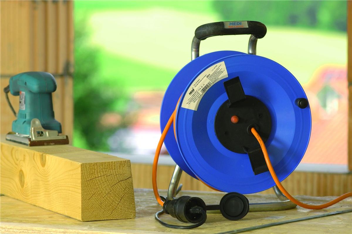 hedi g2y40q2tf kunststoff kabeltrommel professional 40m 3x2 5 mm f r au en neu. Black Bedroom Furniture Sets. Home Design Ideas