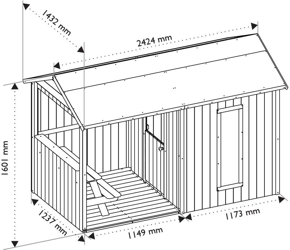 Spielhaus Garten Plan