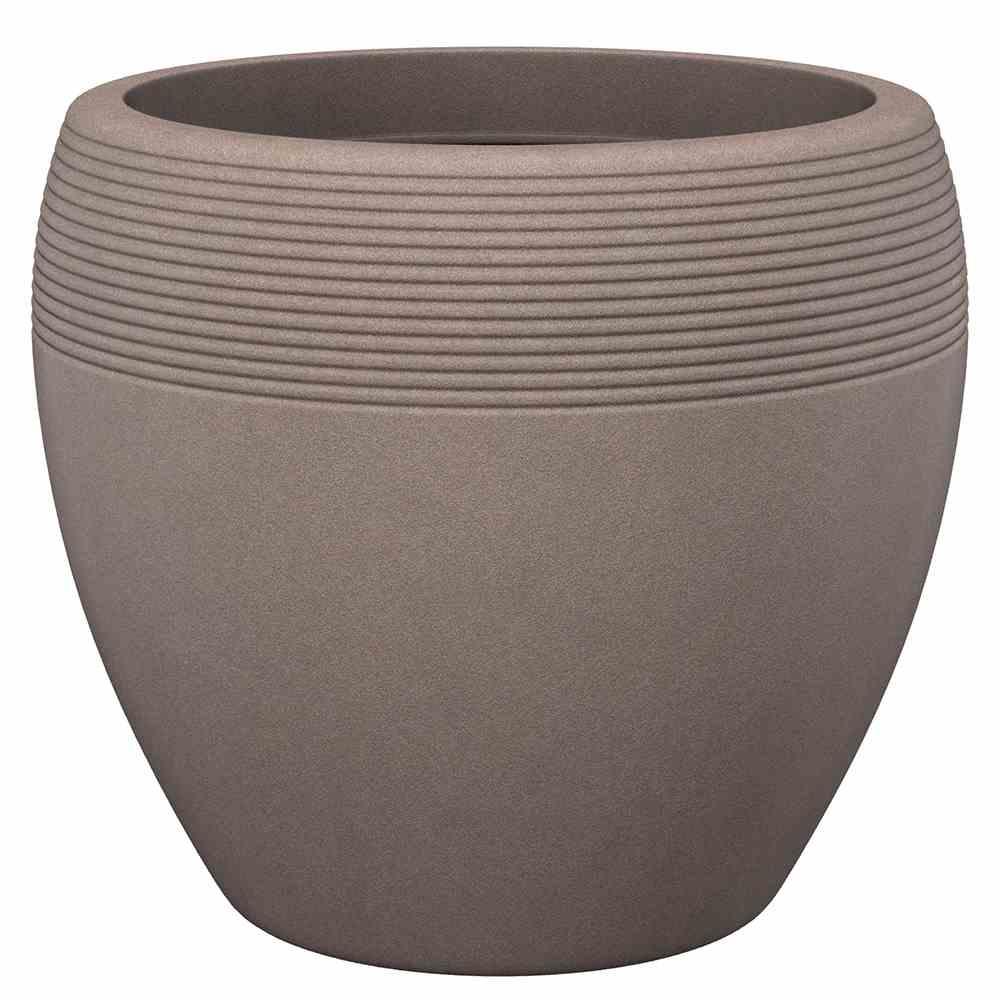 SCHEURICH 56527-OUTDOOR Lineo 30cm Taupe Granit Pflanzgefäß