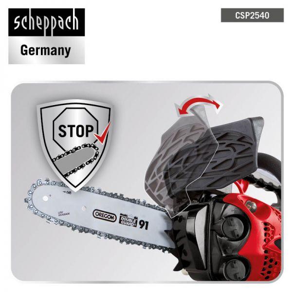 Ersatzkette Forsthelm SCHEPPACH SET CSP2540 Top Handle Benzin Kettensäge inkl