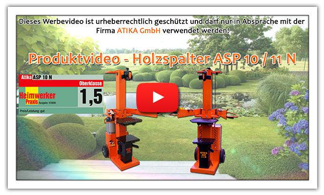 ATIKA Ersatzteil Hydraulikpumpe für Brennholzspalter ASP 10 N **NEU**
